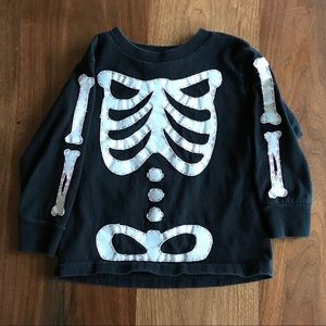 Other - Halloween Skeleton Appliqué Shirt Toddler